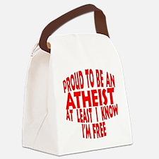 Unique Proud atheist Canvas Lunch Bag