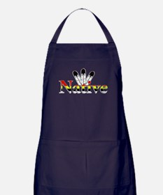 Native text with Eagle Feathers Apron (dark)