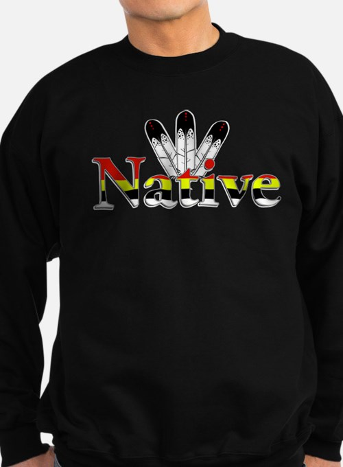 Native text with Eagle Feathers Sweatshirt