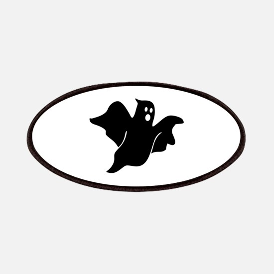 Black scary ghost Patches
