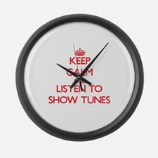 Cute Radio show Large Wall Clock