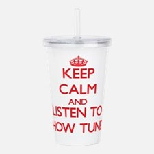 Unique Keep calm Acrylic Double-wall Tumbler