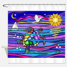 Sea Turtle #4 Shower Curtain