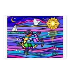 Sea Turtle #4 Postcards (Package of 8)