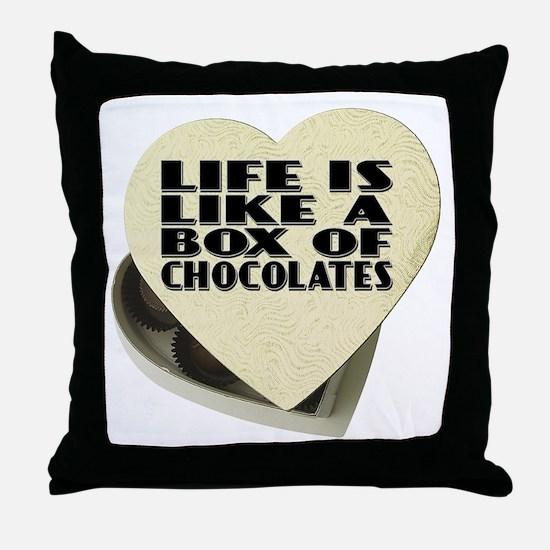 Box Of Chocolates Throw Pillow