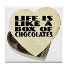 Box Of Chocolates Tile Coaster