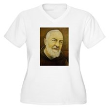 Padre Pio Plus Size T-Shirt