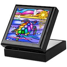 Unique Colorful turtle Keepsake Box