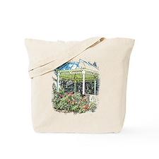 Rose garden gazebo Tote Bag