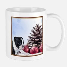Christmas Boston Terrier Mugs