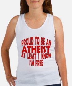 Proud to be a free Atheist Women's Tank Top