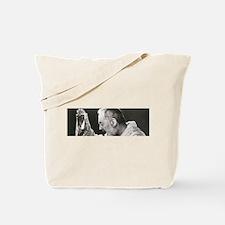 Funny Padre pio Tote Bag