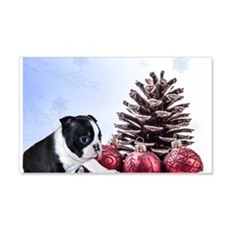Christmas Boston Terrier Wall Decal