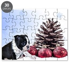 Christmas Boston Terrier Puzzle