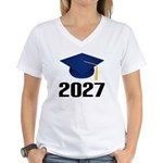 Class of 2027 Grad Women's V-Neck T-Shirt