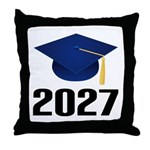 Class of 2027 Grad Throw Pillow