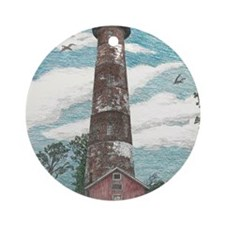 Assateague Island Lighthouse Round Ornament