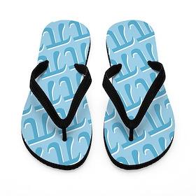 Pi - Blue and White Flip Flops