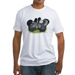 Gray Silkies Fitted T-Shirt