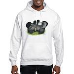 Gray Silkies Hooded Sweatshirt
