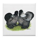 Gray Silkies Tile Coaster