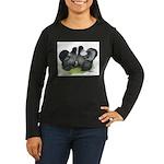 Gray Silkies Women's Long Sleeve Dark T-Shirt