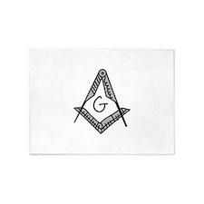 Masonic 5'x7'Area Rug