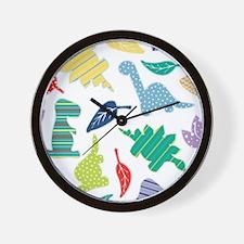 Cute Colorful Dinosaur Pattern Wall Clock
