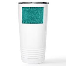 Blue-Green Suede Leathe Travel Mug