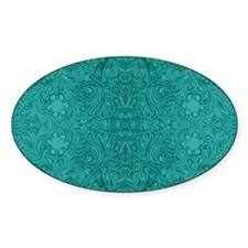 Blue-Green Suede Leather Look Embos Decal