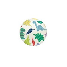 Cute Colorful Dinosaur Pattern Mini Button