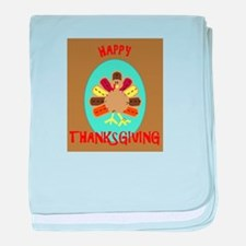 Cute First thanksgiving baby blanket
