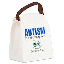 Autism Smile Canvas Lunch Bag
