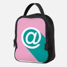 Pink and Green Pop-art At (Amp Neoprene Lunch Bag
