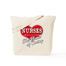 Nurse Caring Heart Tote Bag