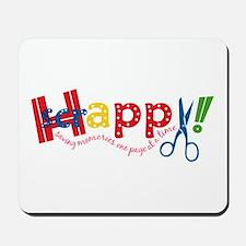 Happy Scrappy Mousepad