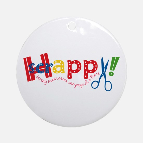Happy Scrappy Ornament (Round)