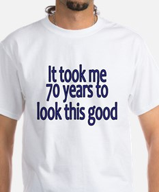 70yrs_mens_dark_blue T-Shirt