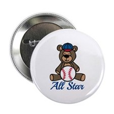 "All Star Bear 2.25"" Button"