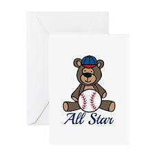 All Star Bear Greeting Cards