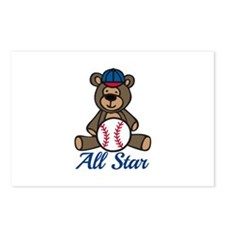All Star Bear Postcards (Package of 8)