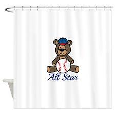 All Star Bear Shower Curtain
