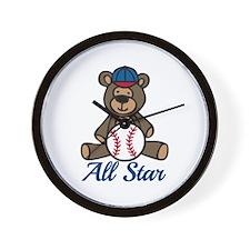 All Star Bear Wall Clock