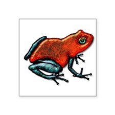 Shiny Red and Green Poison Dart Frog Sticker