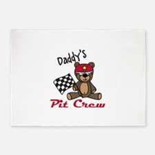 Daddys Pit Crew 5'x7'Area Rug