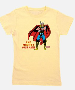 The Mighty Thor Personalized Design Girl's Tee