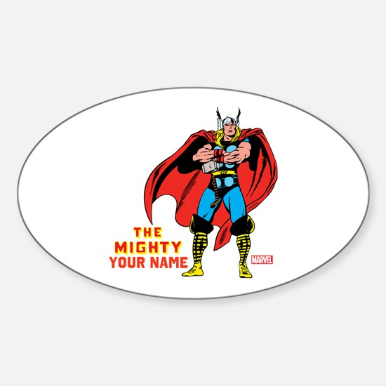 The Mighty Thor Personalized Design Sticker (Oval)