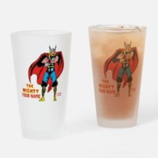 The Mighty Thor Personalized Design Drinking Glass