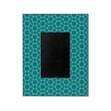 Teal and White Geometric Doodle Patt Picture Frame
