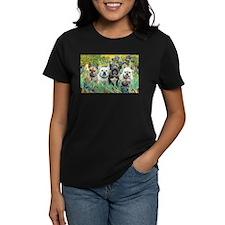 Irises-4 French Bulldogs Tee